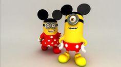 50 parodies des personnages des Minions de Moi, moche et méchant We Love Minions, Cute Minions, Minions 2014, Minion Art, Mickey Mouse, Disney Mickey, Walt Disney, Disney Dream, Disney Love