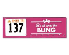 Race Bib / medal Displays - race bibs and medals holder - race bibs with medals hanger It's all about the bling on Etsy, $24.50