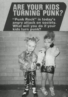Are your kids turning punk? #retro #advertising #funny