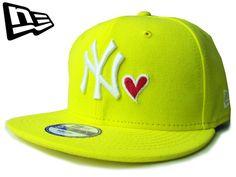 """【ニューエラ】【NEW ERA】9FIFTY キッズサイズ NEW YORK YANKEES """"NY"""" HEART イエローXホワイトXレッド【SNAPBACK】【スナップバック】【CAP】【newera】【帽子】【白】【KID'S SIZE】【子供用】【ハート】【黒】【ボーイズ】【ガールズ】【youth】【あす楽】【楽天市場】"""