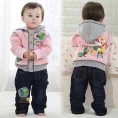 Baby Boy Clothing Set 2015 New High Quality Infant Hoodie Kids Coats T-Shirt Pants 3 Pcs Sets Roupas Meninos Baby Boy Clothing