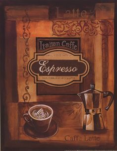 Gregory Gorham - Italian Caffe - art prints and posters