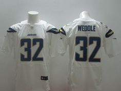 Mens Nike NFL San Diego Chargers #32 Eric Weddle White Elite Jerseys