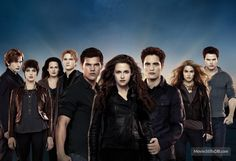 The Twilight Saga: Breaking Dawn - Part 2 - Promotional art with Robert Pattinson, Kristen Stewart, Nikki Reed, Taylor Lautner, Jackson Rathbone, Peter Facinelli, Kellan Lutz, Ashley Greene & Elizabeth Reaser
