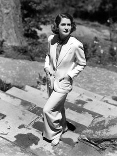 Norma Shearer, 1936 in a suit  #modcloth #styleicon