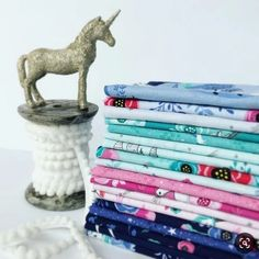 We're bringing the magic! My Unicorn fabric collection has a sprinkling of silver sparkle on some of the prints. I can hardly wait to see more but for now these swatches will do nicely. Fabric Design, Print Design, White Unicorn, Riley Blake, Twin Babies, Fat Quarters, Baby Patterns, 1 Piece, Fabric Crafts