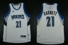 """$23.88 at """"MaryJersey""""(maryjerseyelway@gmail.com) Timberwolves 21 Kevin Garnett White Home Stitched NBA Jersey"""