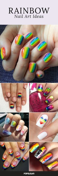 Add Some Color To Your Summer Style Woth Rainbow Nail Art.