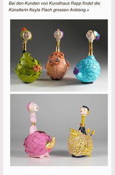 Esculturas de la venezolana Keyla flachi en la galería Rapp. Ubicada en Suiza.