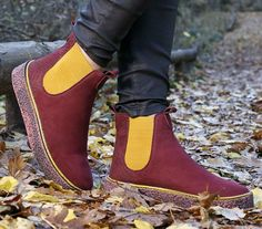 Women sneakers / Burgundy color / Women shoes / Ladies ankle boots / Free express shipping http://etsy.me/2iX8s6R #clothing #shoes #women #new #newcollection #burgundy #sneakers #womenshoes #ladies