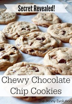 Secret Revealed! Perfect Chewy Chocolate Chip Cookies Recipe | The Jenny Evolution