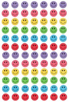 Smiley faces that can be made into individual stickers. Plakat Design, Face Stickers, Journal Stickers, Photo Wall Collage, Aesthetic Stickers, Indie Kids, Printable Stickers, Transparent Stickers, Sticker Design