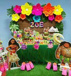Moana Birthday Party Theme, Moana Themed Party, Moana Party, Luau Birthday, Luau Party, 3rd Birthday Parties, Beach Party, Festa Moana Baby, Tropical Party
