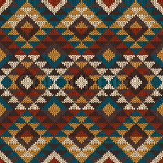 Traditional Tribal Aztec seamless pattern on the wool knitted texture Maori Patterns, Aztec Fabric, Mexican Pattern, Bohemian Fabric, Tapestry Crochet Patterns, Lawn Fabric, Tapestry Bag, Granny Square Crochet Pattern, Seamless Textures