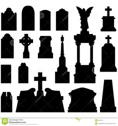 Headstones And Gravestones In Vector - Download From Over 26 Million High Quality Stock Photos, Images, Vectors. Sign up for FREE today. Image: 8678473