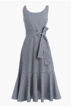 j crew gingham Simple Dresses, Pretty Dresses, Casual Dresses, Fashion Dresses, Summer Dresses, Summer Maxi, Outfit Summer, Get Dressed, Dress Patterns