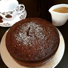 Date cake with butterscotch sauce