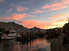Awesome sun sets in Queenstown, NZ  #NZ #Pink #Blue #sunsets