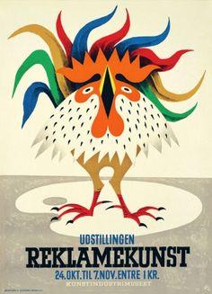Danish Advertising Art Exhibition 1945 - Danish artist Arne Ungermann (1902-1981)