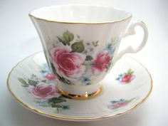 Royal Grafton White Tea Cup & Saucer White Floral Tea cup and