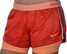 $46.88 cool Nike Women's Pro Combat Double Up Shorts - Red