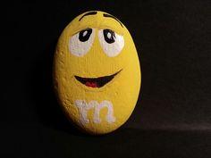 Mr. M, painted rock