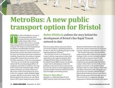Article for Coach & Bus Week on the Bristol Metrobus project