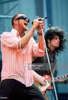 Scott Weiland and Stone Temple Pilots perform at the Greek Theater on July 4, 1993 in Berkeley California.