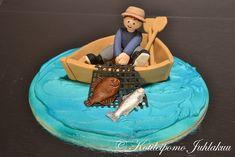 Kalastajakoriste Cake Design For Men, Fondant Cake Designs, Party Time, Birthday Cake, Outdoor Decor, Decoration, Food, Home Decor, Decor