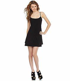 GB SpaghettiStrap Tiered Dress #Dillards
