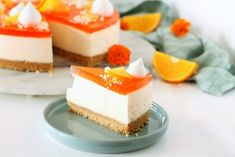 Aperol cheesecake - kagen til din næste fest Cheesecake Desserts, Something Sweet, Plated Desserts, Cheesecakes, Vanilla Cake, Mousse, Panna Cotta, Cake Decorating, Sweets
