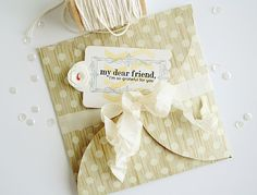 My Dear Friend Card by Danielle Flanders for Papertrey Ink (January 2014)