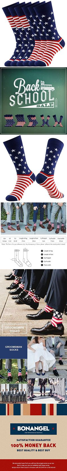 ed52f5ab960 American Flag Fun Dress Socks for Men