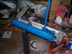 Tubing Bender by sleepyonthree -- Homemade tubing bender fabricated from steel and powered by an air over hydraulic ram. http://www.homemadetools.net/homemade-tubing-bender-21