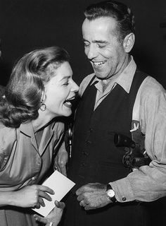 Lauren Bacall and Humphrey Bogart.