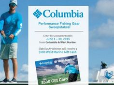 Gear Up With Columbia Sweepstakes | Marine gear