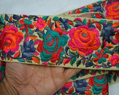 Indian Laces Sari Border Trim By The Yard Silk Embroidered Ribbon Trims Decorative Saree Border Sewing Fabric Trim Craft Ribbon Trimmings Saree Border, Passementerie, Sewing Trim, Fabric Suppliers, Indian Fabric, Brocade Fabric, Embroidered Silk, Sewing Patterns, Embroidery