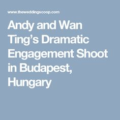 Andy and Wan Ting's Dramatic Engagement Shoot in Budapest, Hungary