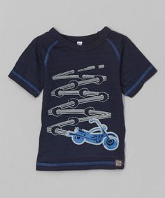 Take a look at this Navy Motorcycle Tee - Infant, Toddler