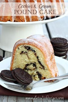 Dense, moist pound cake with a ribbon of crushed Oreo cookies.