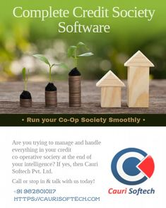 Credit Co-operative Society (COOP) - Cauri Softech is an online Nidhi software for COOP with core banking fully secured and password secured. Banking Software, Mini, Free
