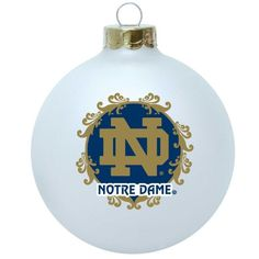 Notre Dame--The Dome/Main Building Round Ball Christmas Ornament ...