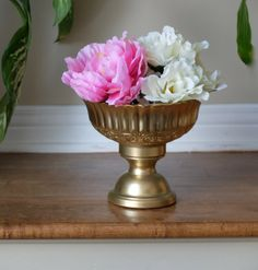 Gold Pedestal Vase Wedding Centrepiece Centerpiece Floral Candleholder on Etsy, $16.99 CAD