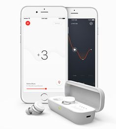 Here One Wireless Earbuds -- More than just another wireless earbud, Here One is the first all-in-one, wireless listening system. With two smart buds and a connected app, it enables you to stream music, take calls, reduce ambient noise, amplify speech, access Siri and Google Now, and more. $299
