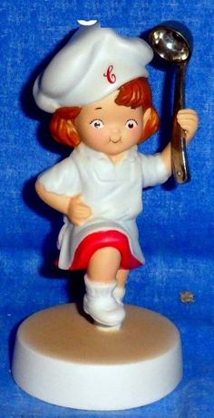 Campbell's Soup Kid's Girl Porcelain Figurine Dancing with Soup Ladle 2003   A5 #CampbellsSoupCompany