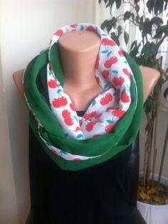 Green Infinity Scarf  Women's Scarves Green Loop by ScarfAngel, $19.00