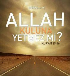 ☝ Allah (cc) kuluna yetmez mi?  #Allah #yeter #onegüzelvekildir #o #ne #güzel #dost #ayet #hayırlıcumalar #islam #müslüman #ilmisuffa