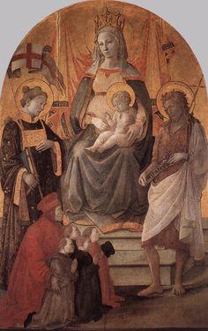 ❤ - Fra' FILIPPO LIPPI (1406-1469) -    Madonna del Ceppo.