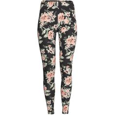 H&M Jersey leggings ($4.35) ❤ liked on Polyvore featuring pants, leggings, bottoms, jeans, patterned pants, jersey leggings, print leggings, elastic waistband pants and stretch waist pants