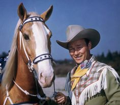Roy Rogers & Trigger.  Part of the large number of Westerns that were shown back then.